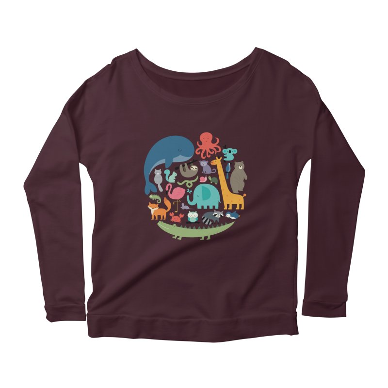 We Are One Women's Scoop Neck Longsleeve T-Shirt by andywestface's Artist Shop