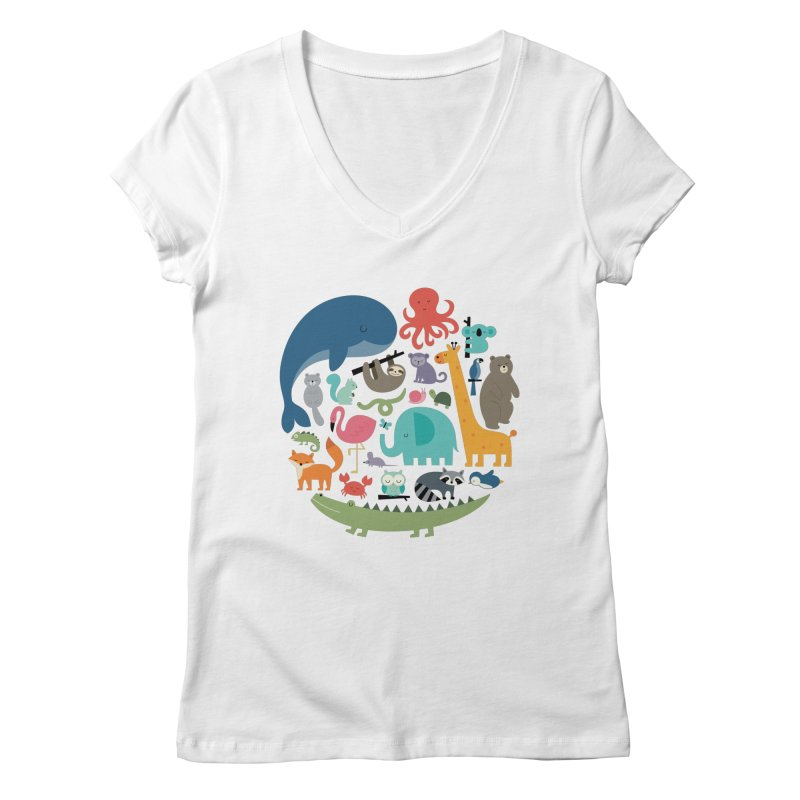 We Are One Women's Regular V-Neck by andywestface's Artist Shop
