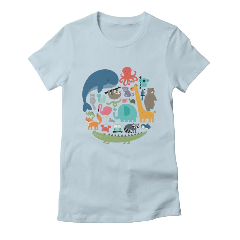 We Are One Women's Fitted T-Shirt by andywestface's Artist Shop