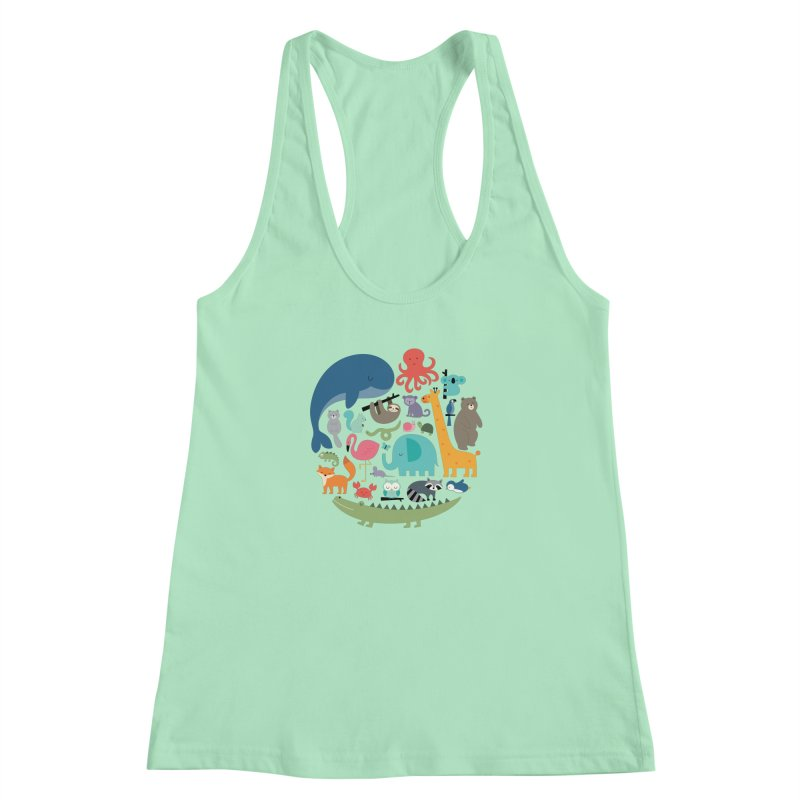 We Are One Women's Racerback Tank by andywestface's Artist Shop