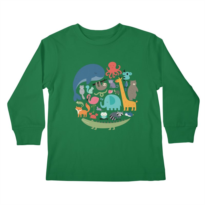 We Are One Kids Longsleeve T-Shirt by andywestface's Artist Shop