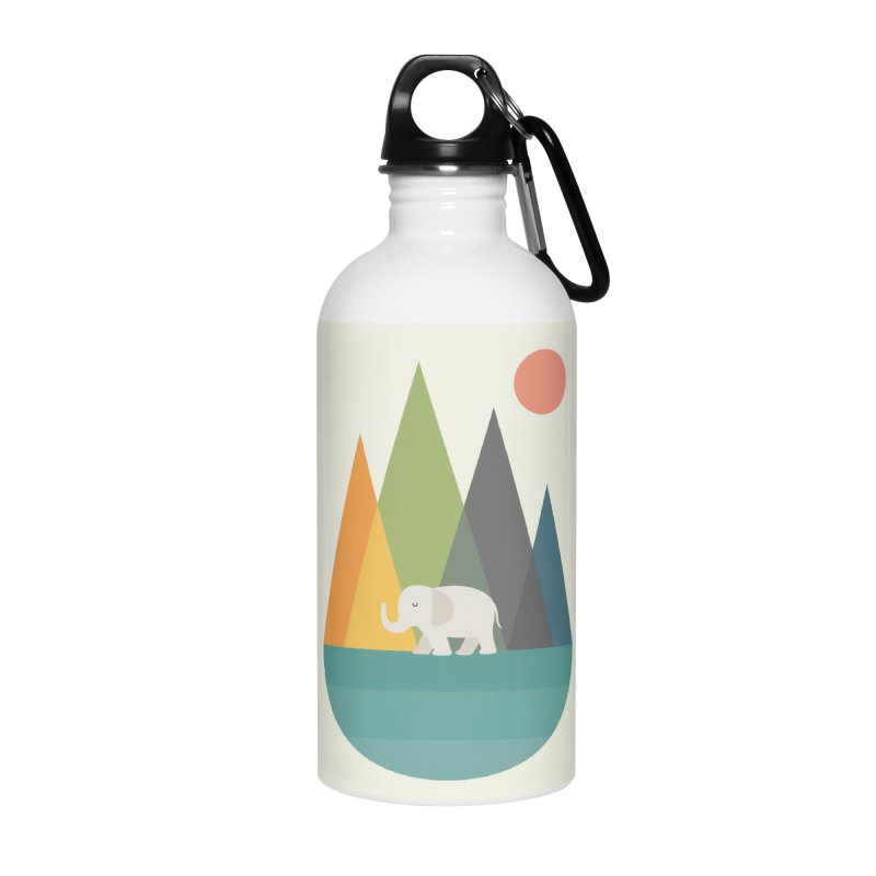 Walk In Peace Accessories Water Bottle by andywestface's Artist Shop
