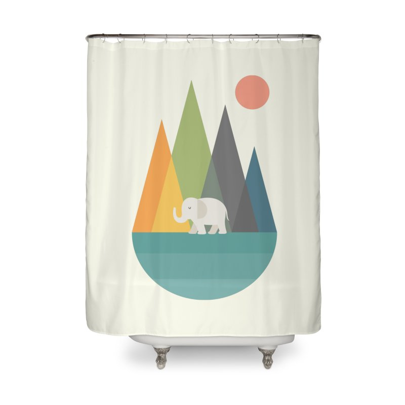 Walk In Peace Home Shower Curtain by andywestface's Artist Shop