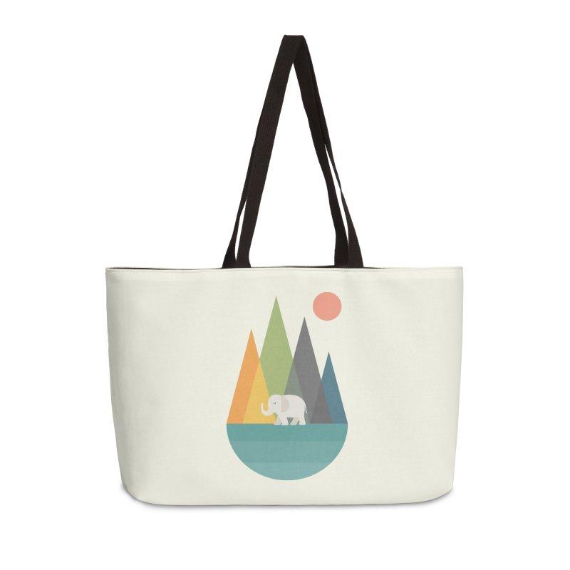 Walk In Peace Accessories Weekender Bag Bag by andywestface's Artist Shop