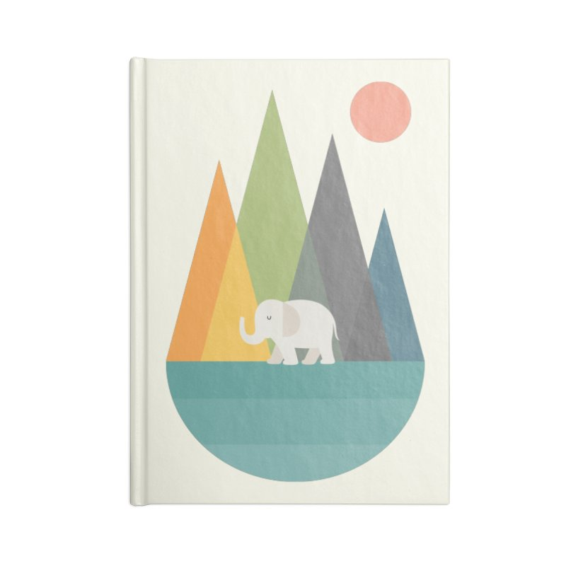 Walk In Peace Accessories Lined Journal Notebook by andywestface's Artist Shop