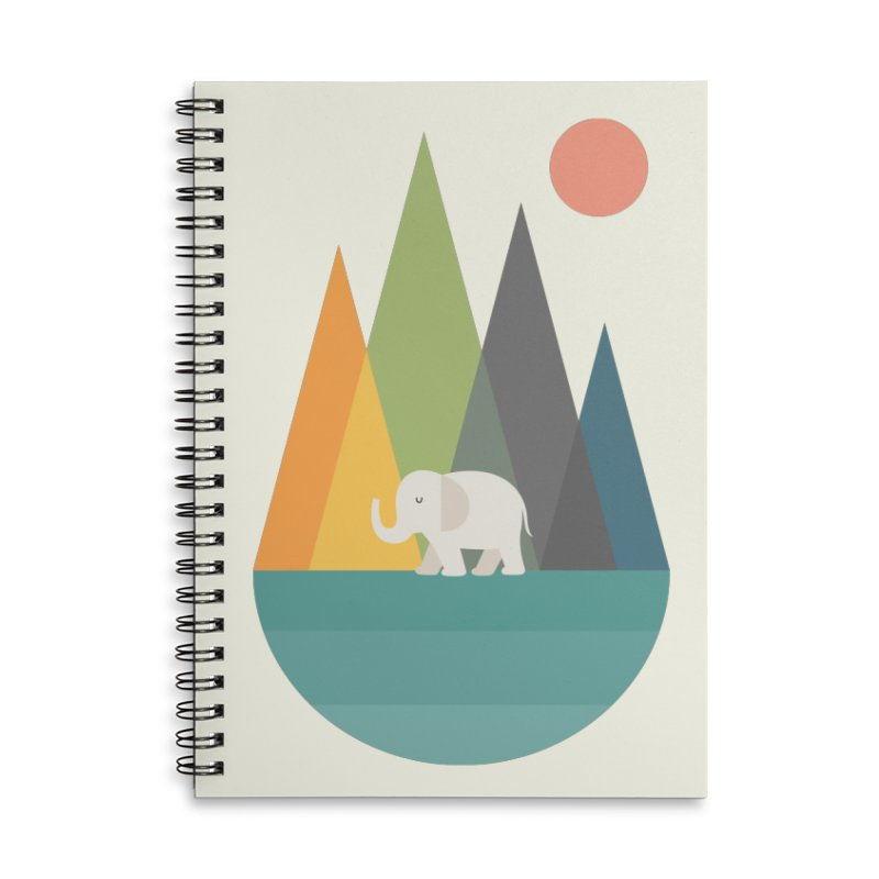 Walk In Peace Accessories Lined Spiral Notebook by andywestface's Artist Shop