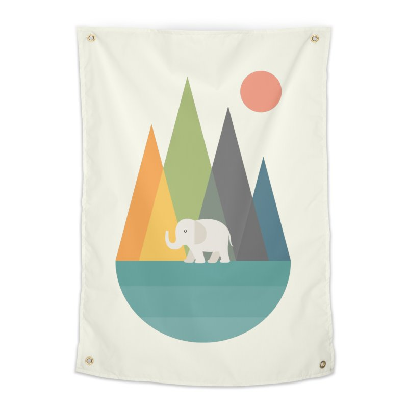 Walk In Peace Home Tapestry by andywestface's Artist Shop