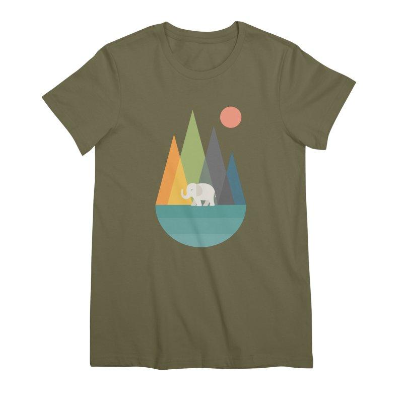 Walk In Peace Women's Premium T-Shirt by andywestface's Artist Shop