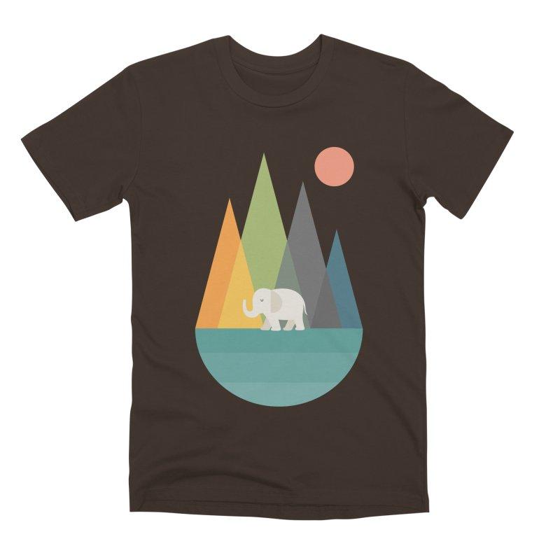 Walk In Peace Men's Premium T-Shirt by andywestface's Artist Shop