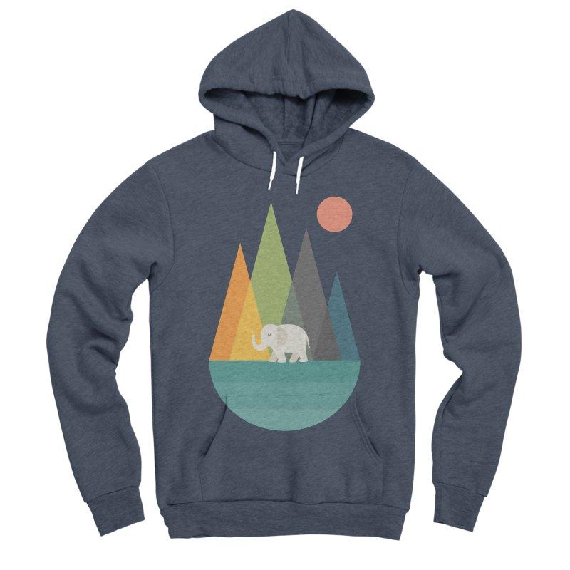 Walk In Peace Men's Sponge Fleece Pullover Hoody by andywestface's Artist Shop