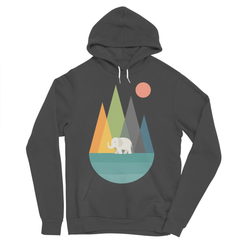 Walk In Peace Men's Sponge Fleece Pullover Hoody by andywestface's Artist Shop