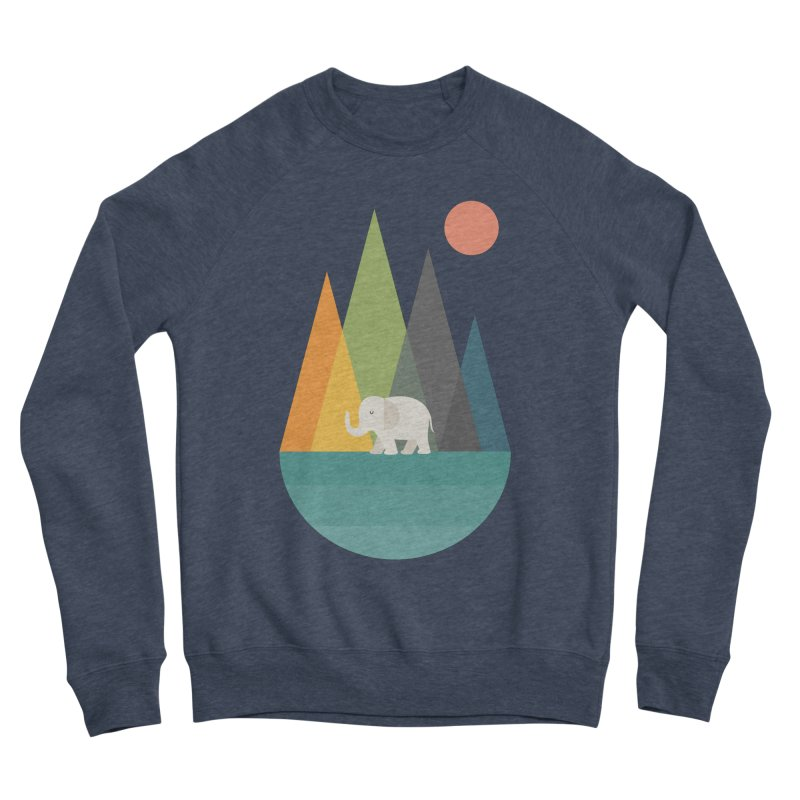 Walk In Peace Men's Sponge Fleece Sweatshirt by andywestface's Artist Shop
