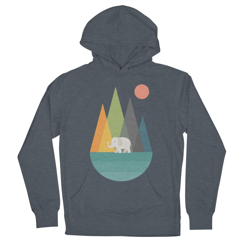 Walk In Peace Men's French Terry Pullover Hoody by andywestface's Artist Shop
