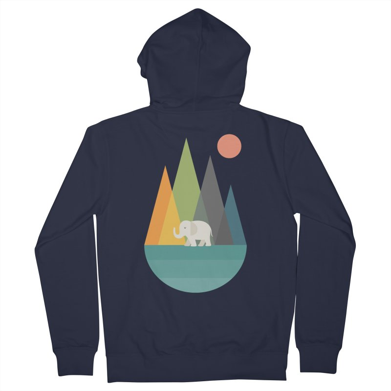 Walk In Peace Men's French Terry Zip-Up Hoody by andywestface's Artist Shop