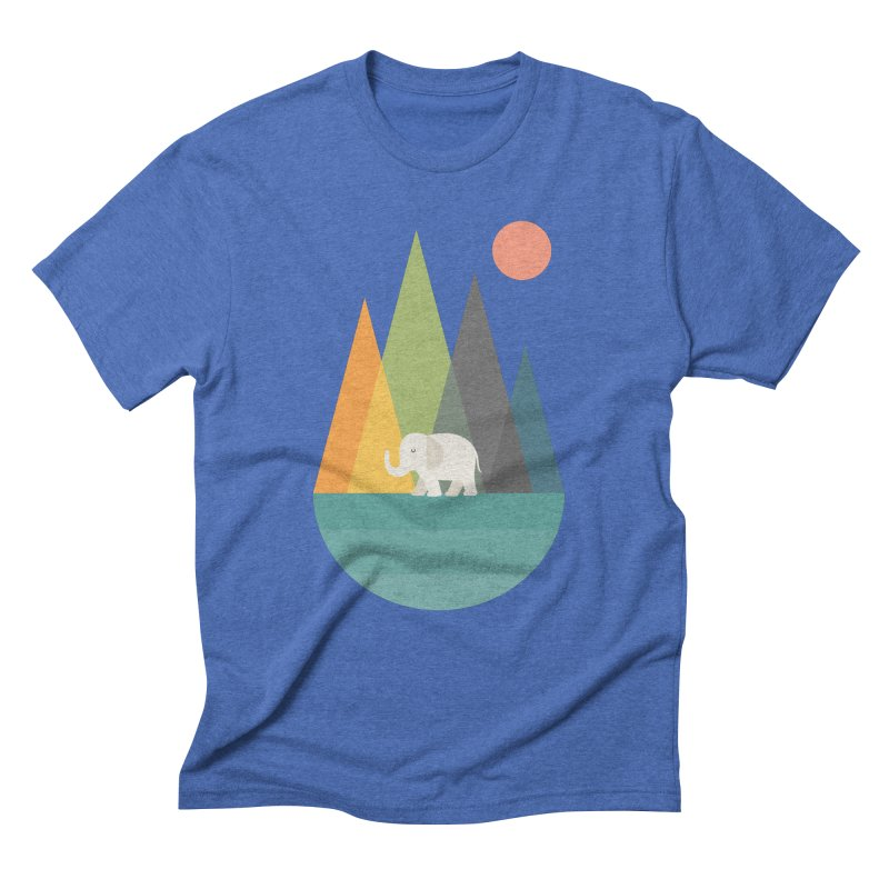 Walk In Peace Men's Triblend T-Shirt by andywestface's Artist Shop