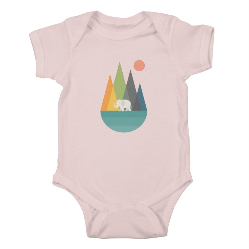 Walk In Peace Kids Baby Bodysuit by andywestface's Artist Shop