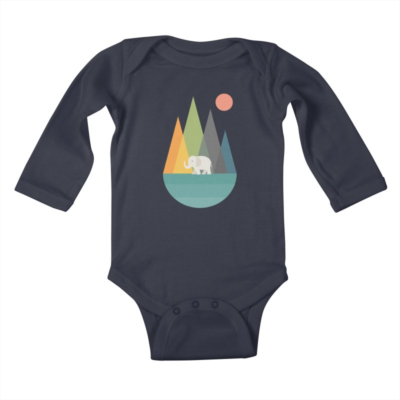 Walk In Peace Kids Baby Longsleeve Bodysuit by andywestface's Artist Shop