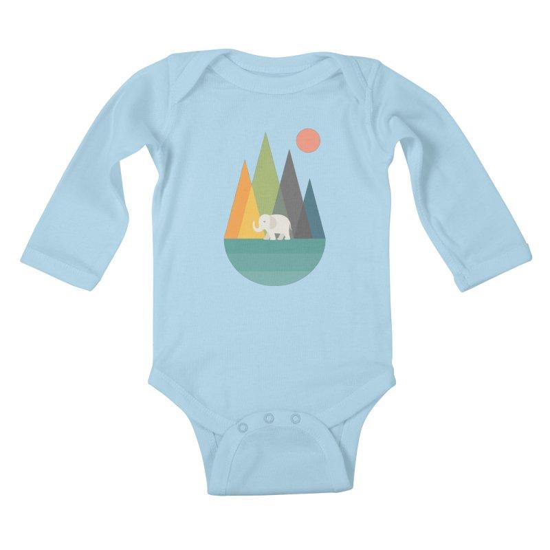 Walk In Peace Kids Baby Longsleeve Bodysuit by andywestface's Artist Shop
