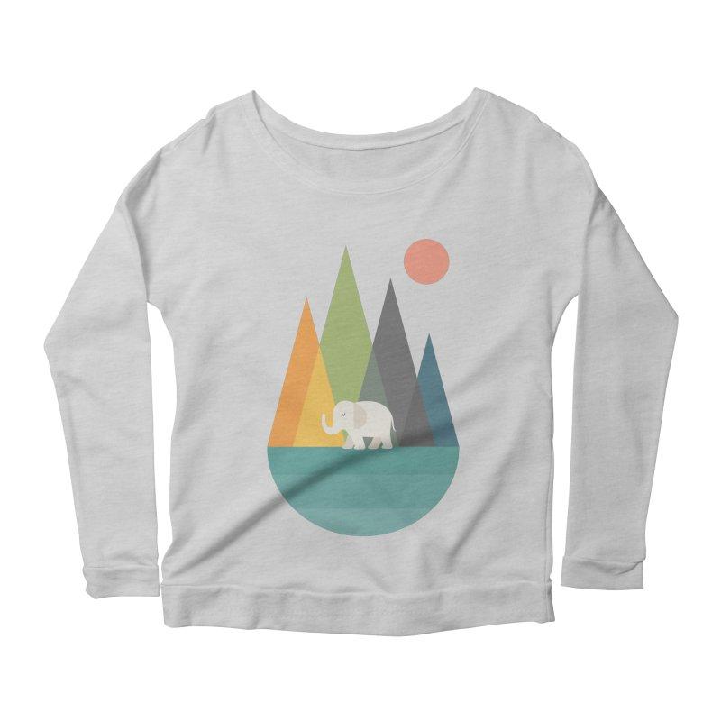 Walk In Peace Women's Scoop Neck Longsleeve T-Shirt by andywestface's Artist Shop