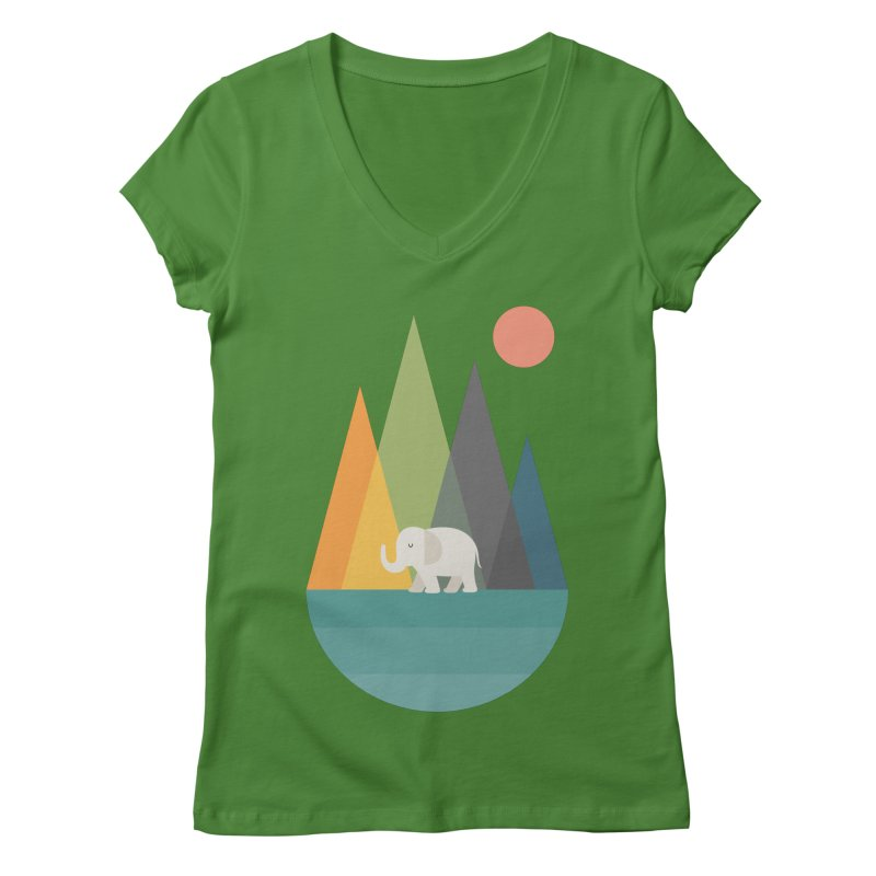 Walk In Peace Women's Regular V-Neck by andywestface's Artist Shop