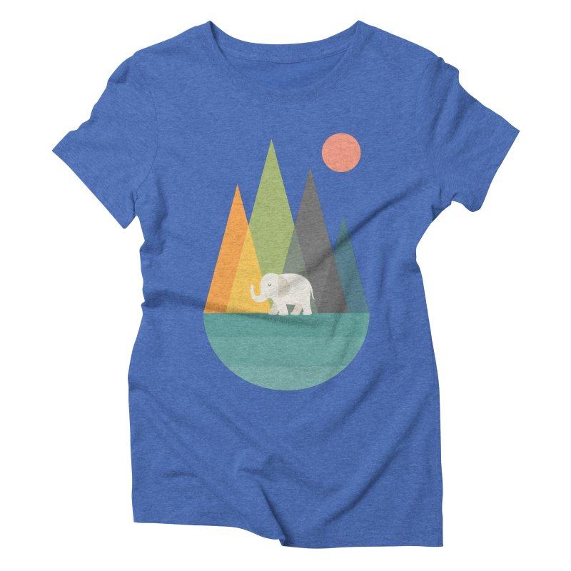 Walk In Peace Women's Triblend T-Shirt by andywestface's Artist Shop