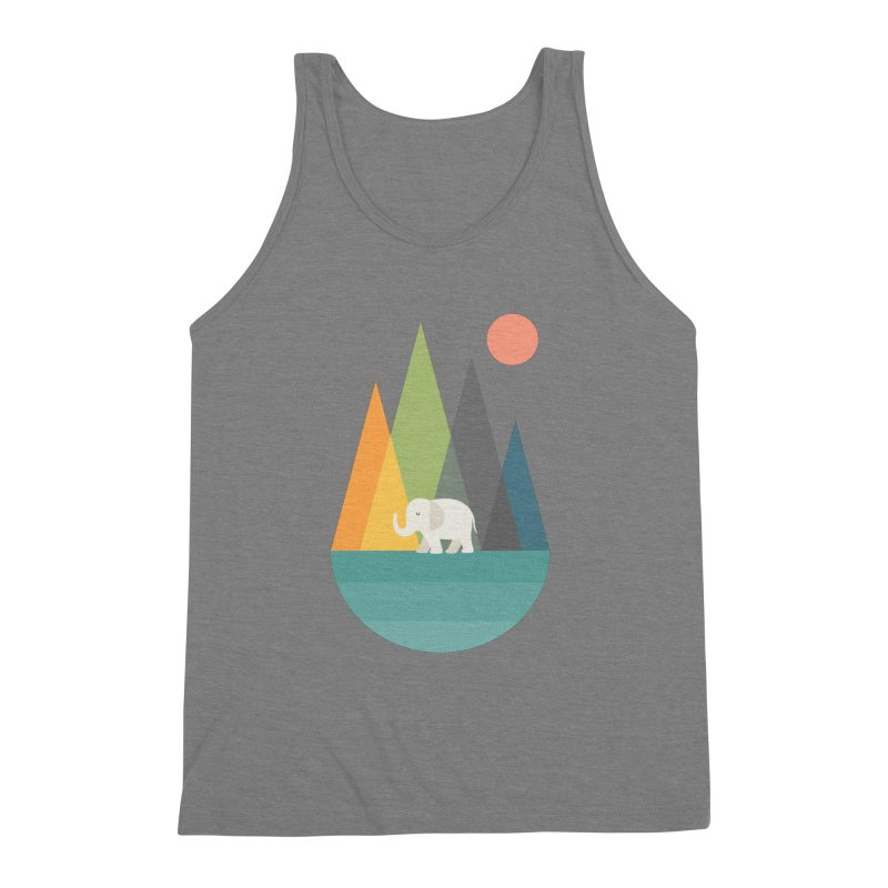 Walk In Peace Men's Triblend Tank by andywestface's Artist Shop