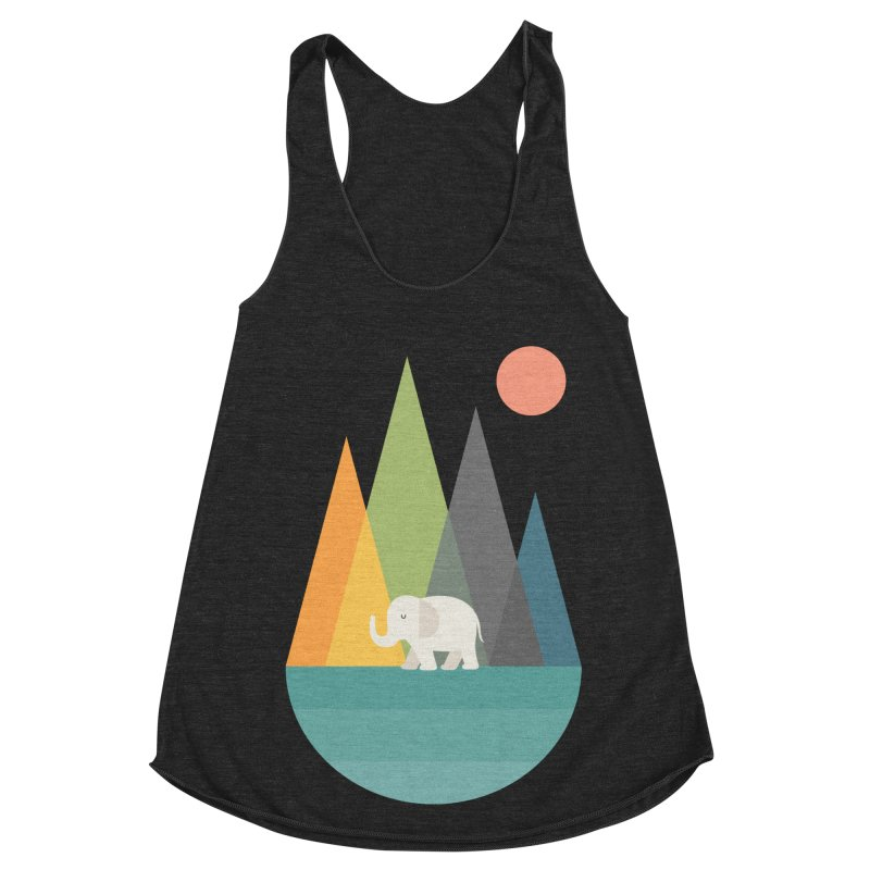 Walk In Peace Women's Racerback Triblend Tank by andywestface's Artist Shop