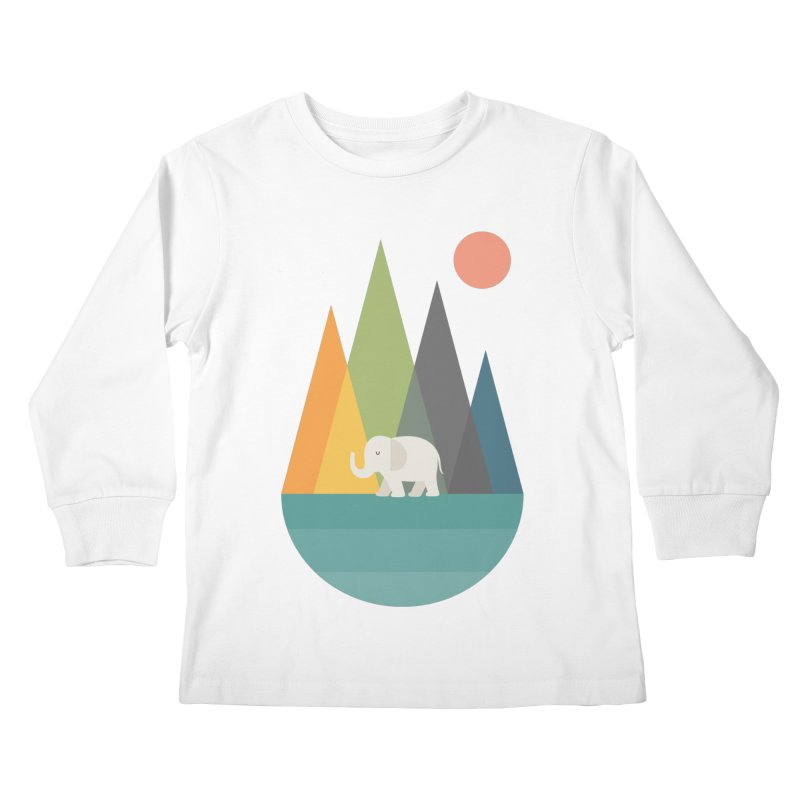 Walk In Peace Kids Longsleeve T-Shirt by andywestface's Artist Shop