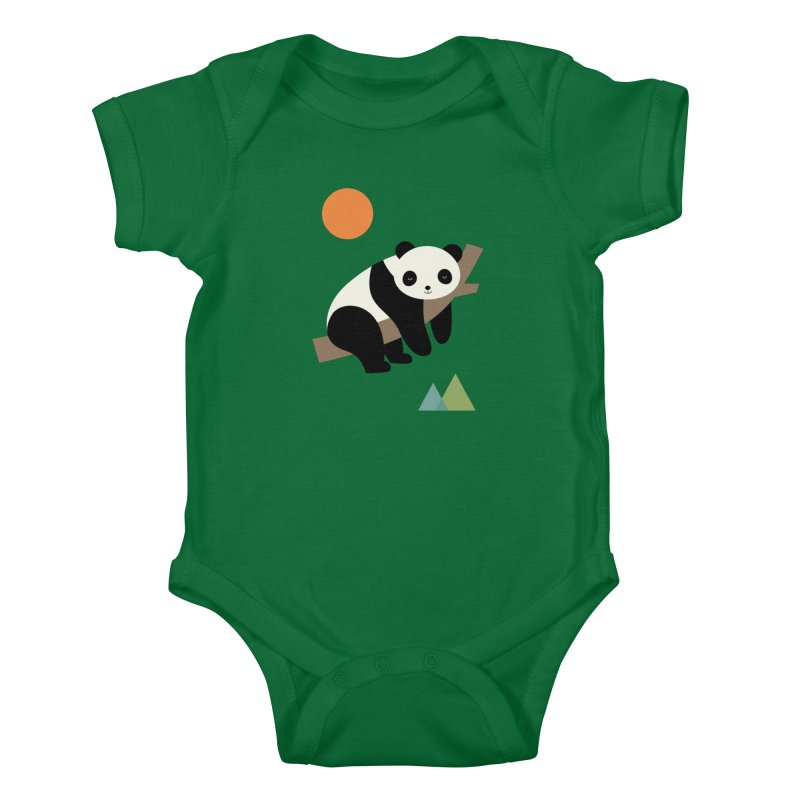 Lazy Day Kids Baby Bodysuit by andywestface's Artist Shop