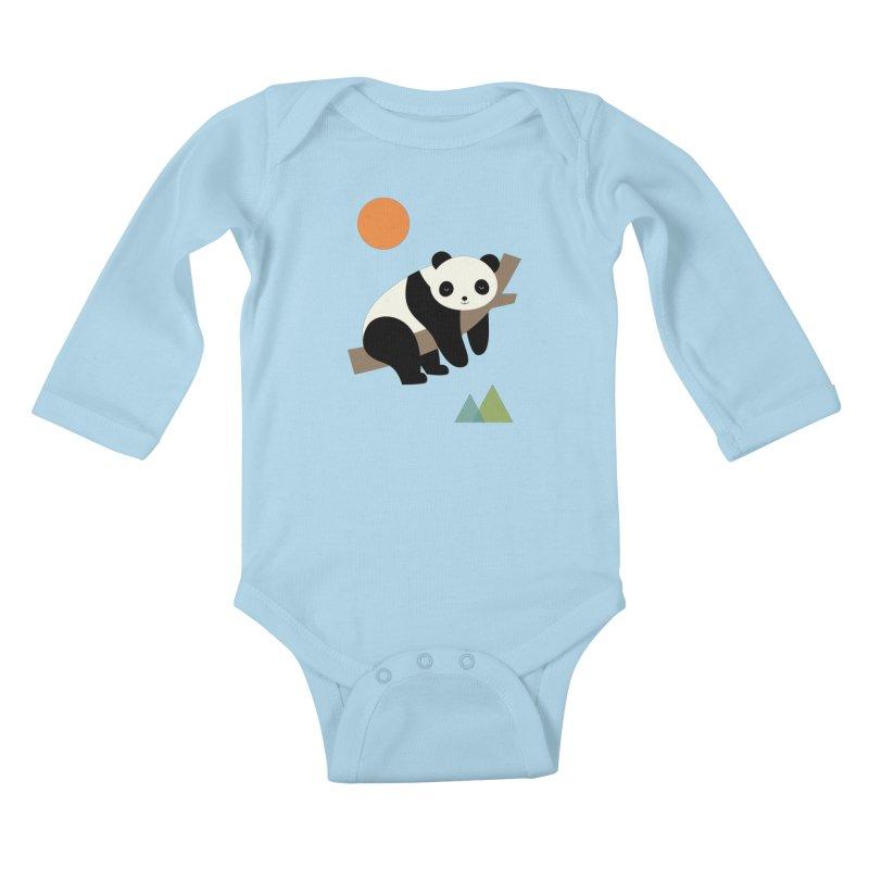 Lazy Day Kids Baby Longsleeve Bodysuit by andywestface's Artist Shop