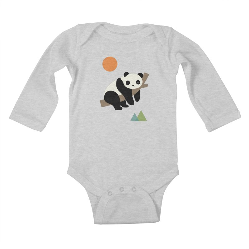 Lazy Day Kids Baby Longsleeve Bodysuit by andywestface's Artist Shop