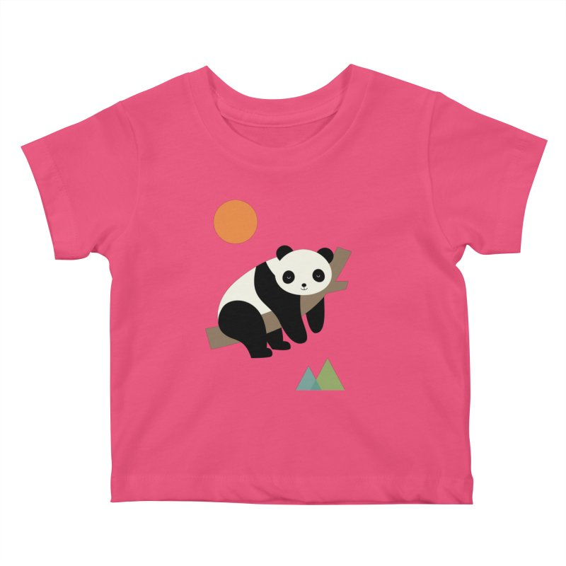 Lazy Day Kids Baby T-Shirt by andywestface's Artist Shop