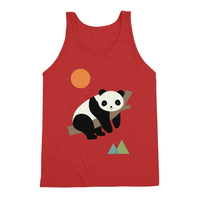Lazy Day Men's Triblend Tank by andywestface's Artist Shop