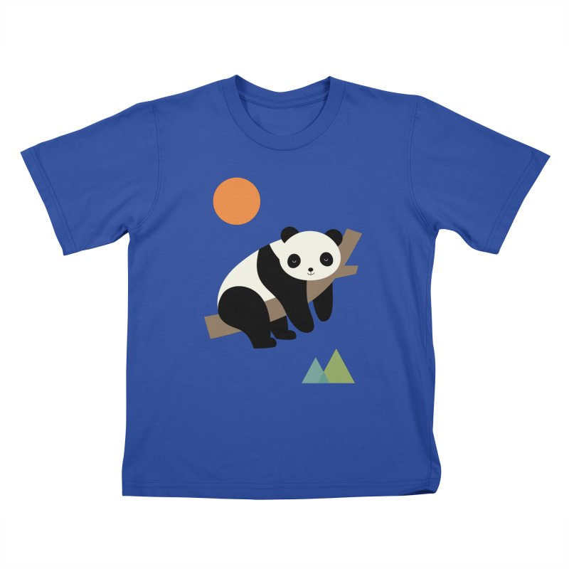 Lazy Day Kids T-Shirt by andywestface's Artist Shop