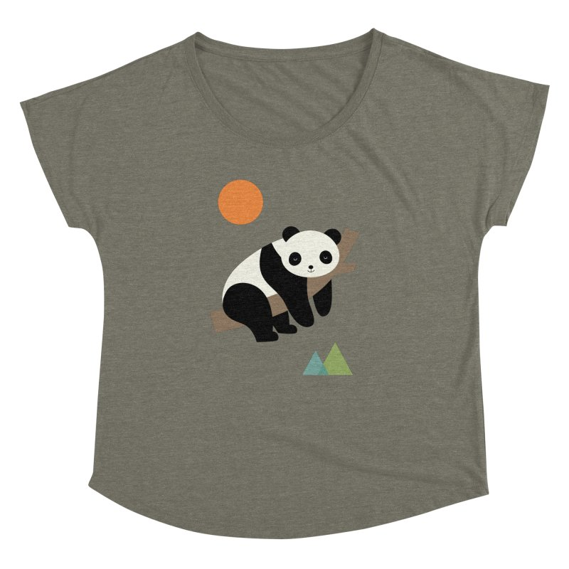 Lazy Day Women's Dolman Scoop Neck by andywestface's Artist Shop