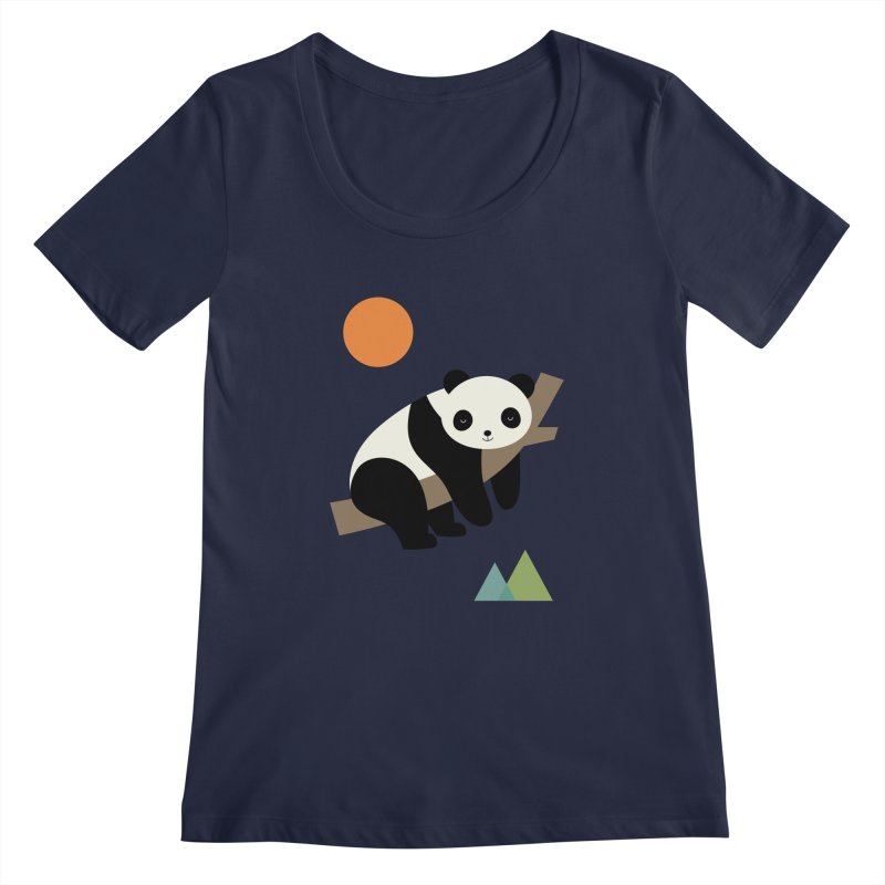 Lazy Day Women's Regular Scoop Neck by andywestface's Artist Shop