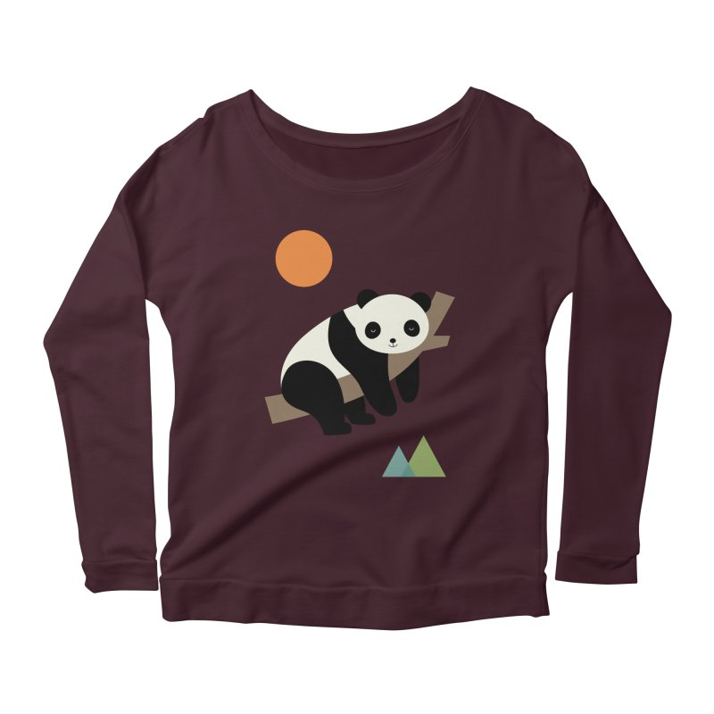 Lazy Day Women's Scoop Neck Longsleeve T-Shirt by andywestface's Artist Shop