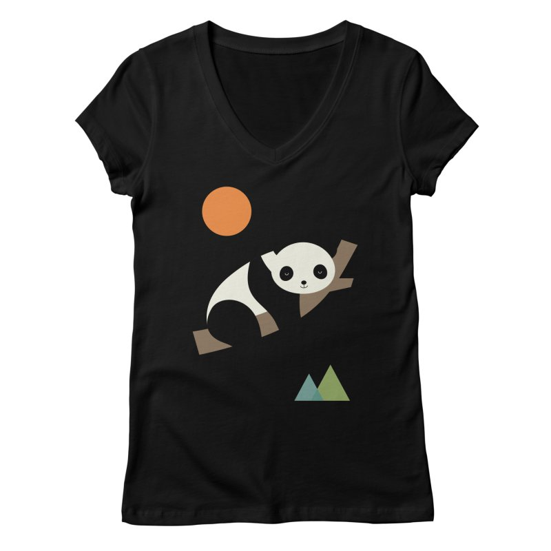Lazy Day Women's Regular V-Neck by andywestface's Artist Shop
