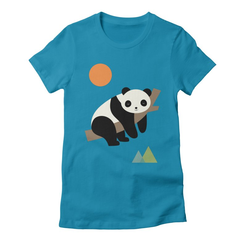 Lazy Day Women's Fitted T-Shirt by andywestface's Artist Shop
