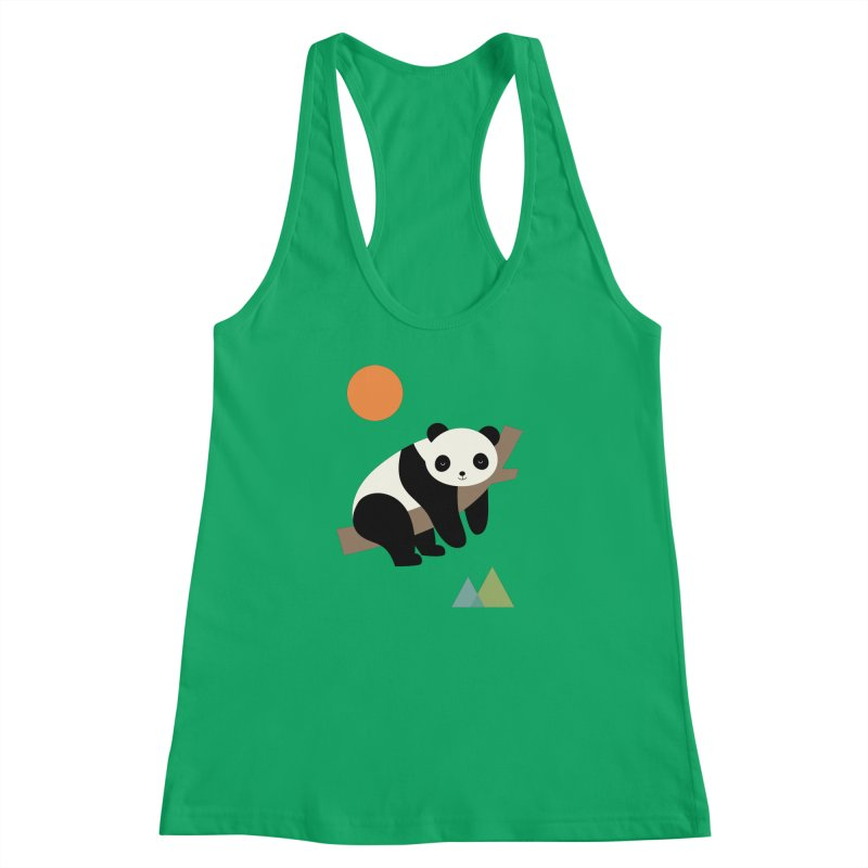 Lazy Day Women's Racerback Tank by andywestface's Artist Shop