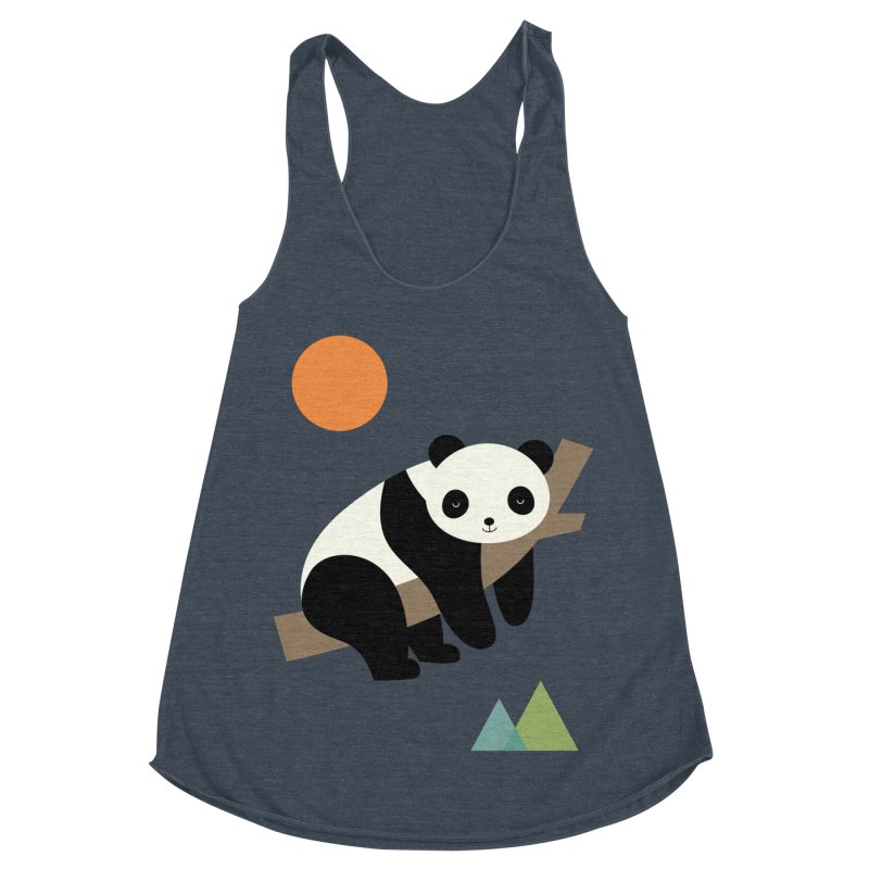 Lazy Day Women's Racerback Triblend Tank by andywestface's Artist Shop