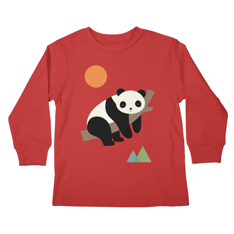 Lazy Day Kids Longsleeve T-Shirt by andywestface's Artist Shop