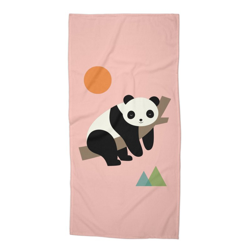 Lazy Day Accessories Beach Towel by andywestface's Artist Shop