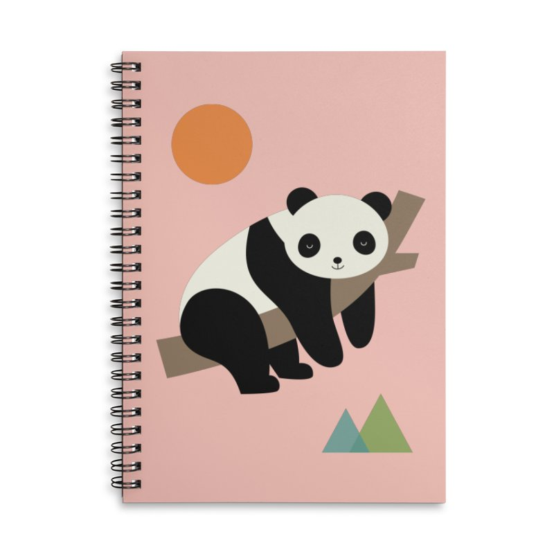 Lazy Day Accessories Lined Spiral Notebook by andywestface's Artist Shop