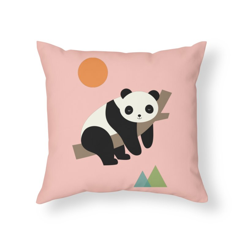 Lazy Day Home Throw Pillow by andywestface's Artist Shop