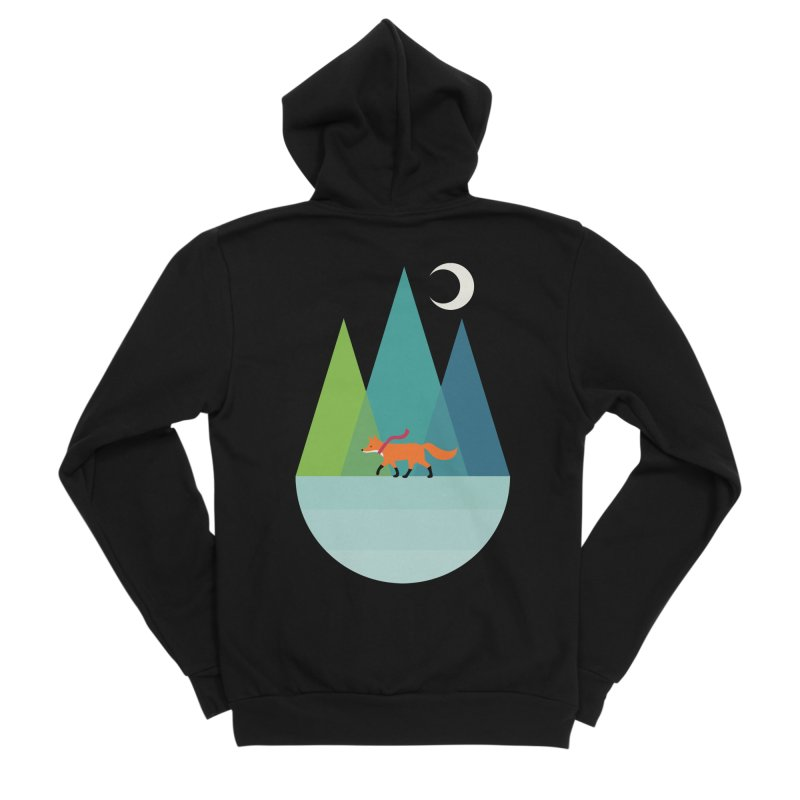 Walk Alone Men's Sponge Fleece Zip-Up Hoody by andywestface's Artist Shop