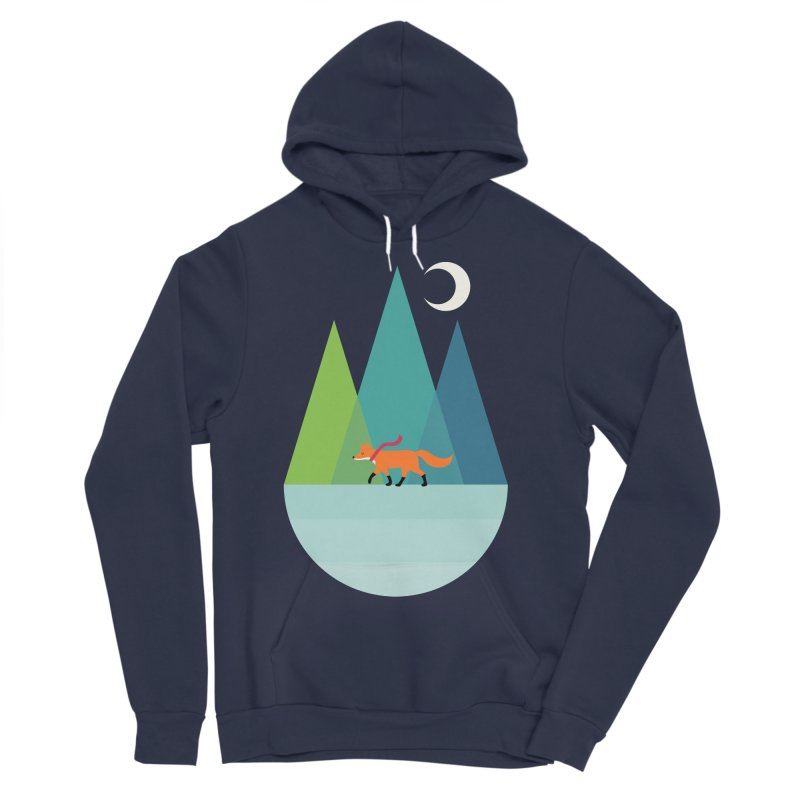 Walk Alone Women's Sponge Fleece Pullover Hoody by andywestface's Artist Shop