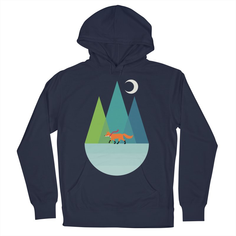 Walk Alone Men's French Terry Pullover Hoody by andywestface's Artist Shop