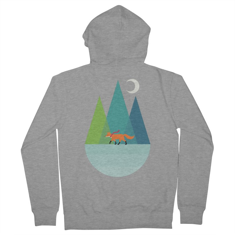 Walk Alone Women's French Terry Zip-Up Hoody by andywestface's Artist Shop