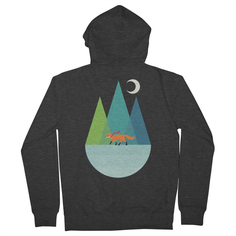 Walk Alone Men's French Terry Zip-Up Hoody by andywestface's Artist Shop